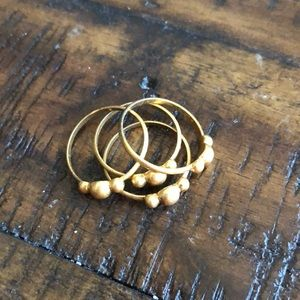 Madewell size 6 stackable gold ring